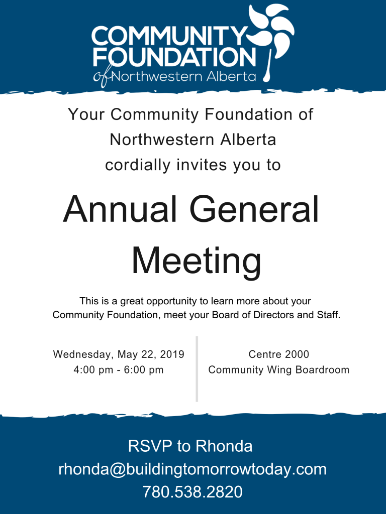Annual General Meeting May 22 2019 Community Foundation